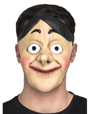 Máscara de boneco de madeira para adulto