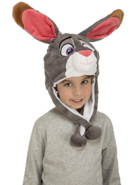 Gorro de conejo de peluche infantil