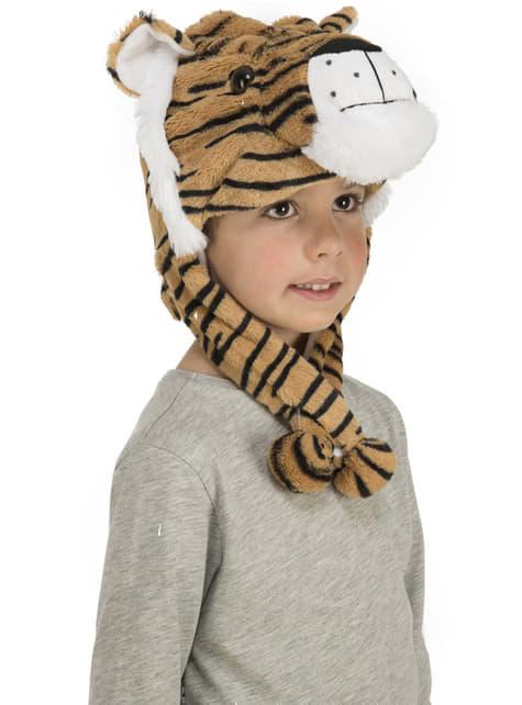 Gorro de tigre de peluche infantil