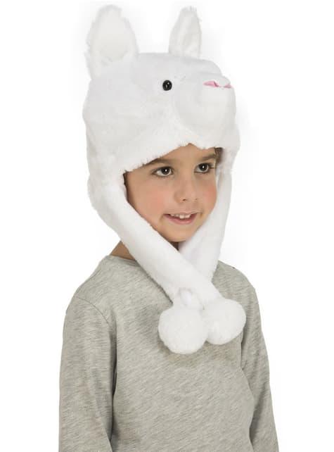 Gorro de oso polar de peluche infantil