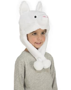 Căciulă de urs polar de pluș pentru copii
