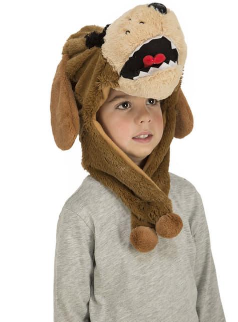 Gorro de perro marrón infantil