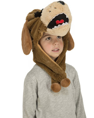 Chapeau chien marron enfant