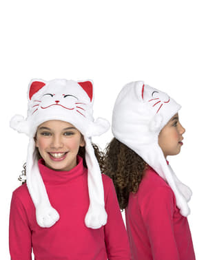 White cat hat for kids