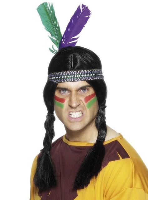 Fita índia com penas