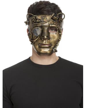 Guld Steampunk maske til voksne