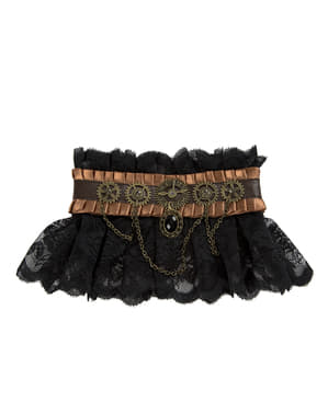 Black Steampunk ruff for adults