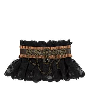 Halskrage steampunk svart för vuxen