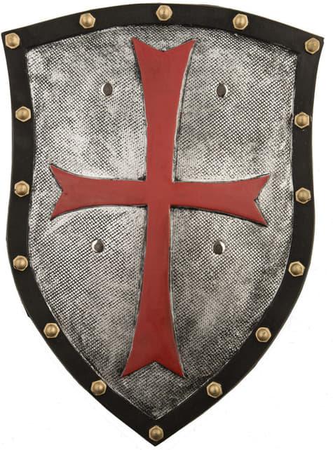Escudo medieval con cruz