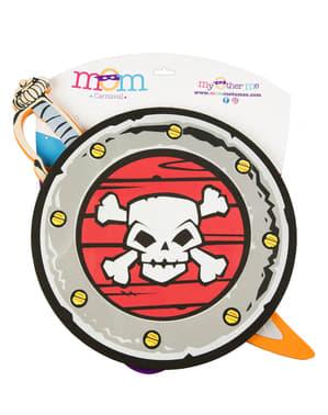 Set Svärd och Sköld pirat för barn