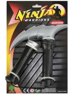 Nunchaku de ninja com sabre