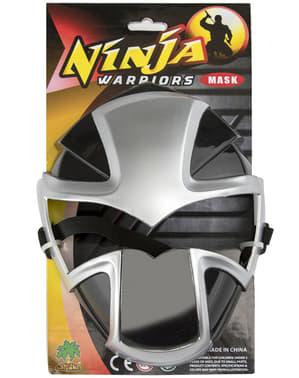 Sølv ninja maske
