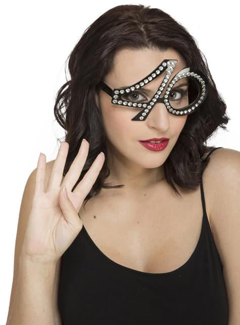 40ste Verjaardag bril met glitters voor volwassenen