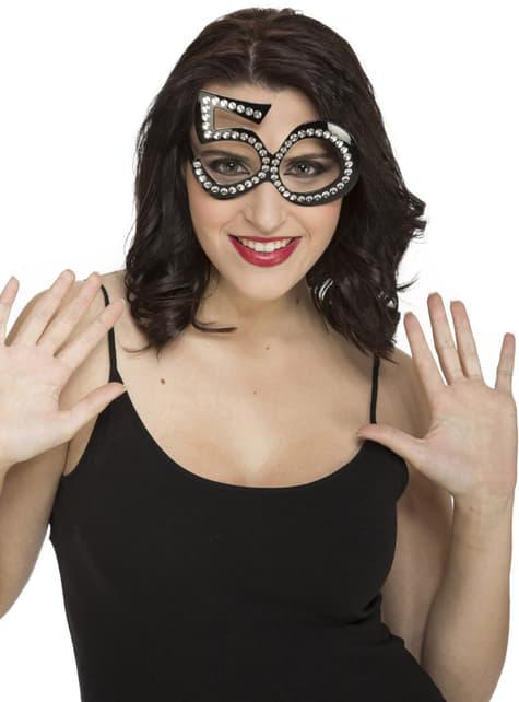 50ste Verjaardag bril met glitters voor volwassenen