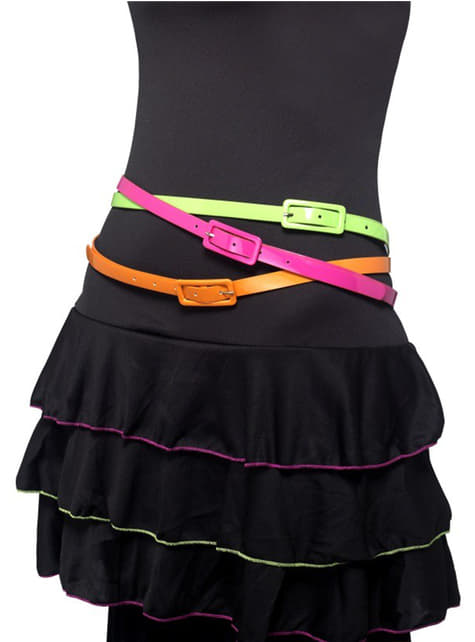 Set of neon belts