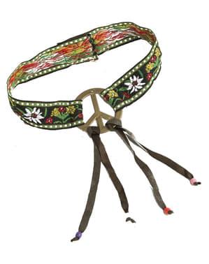 Kadınlar için barış sembolü ile hippi bandana