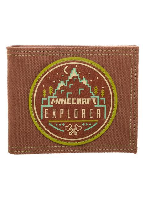 Carteira de Minecraft Explorer castanha