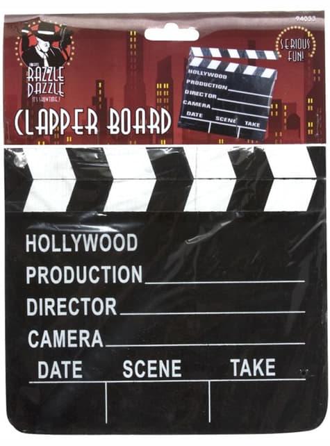 Claqueta estilo Hollywood - para tu disfraz