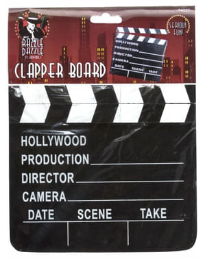 Hollywood style clapperboard