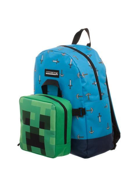 Mochila y porta merienda desmontable de Minecraft
