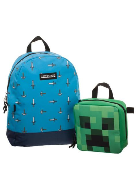 Backpack and detachable Minecraft lunch box