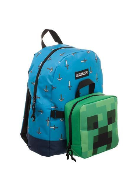Mochila y porta merienda desmontable de Minecraft - comprar