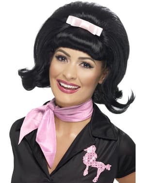 50s Style Black Wig for Women