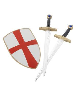 Zestaw dziecięcy rycerza Templariusza