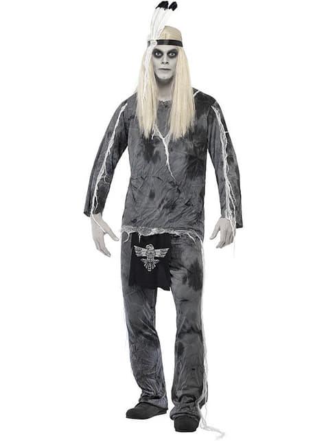 Disfraz de indio de pueblo fantasma para hombre
