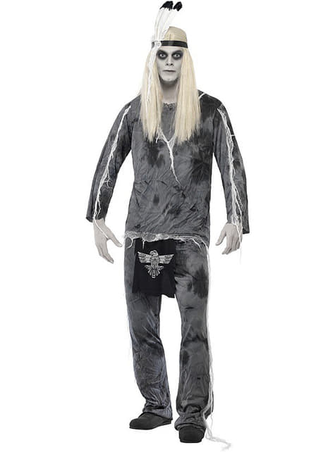Village indian ghost Man Adult Costume