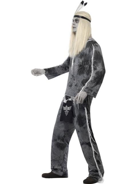 Disfraz de indio de pueblo fantasma para hombre - original