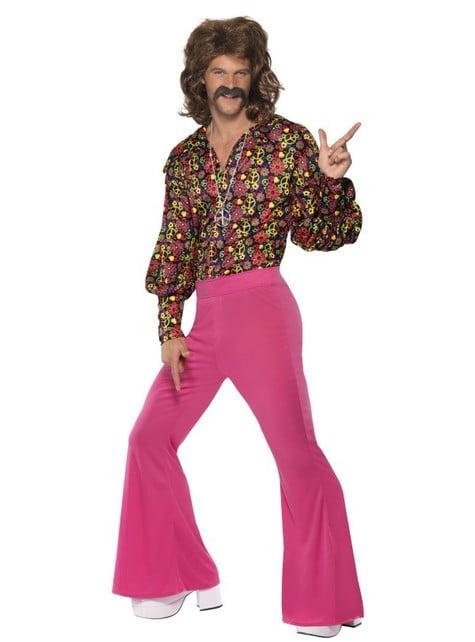 60's kostuum van hippe hippie