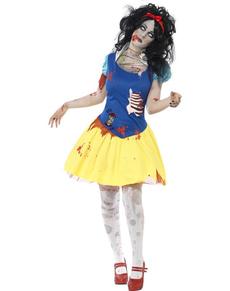 Déguisement de princesse des Neiges zombie