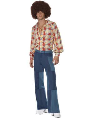 70-es évekbeli retro férfi felnőtt jelmez