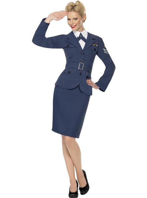 Flygvapnets kvinnlig kapten Maskeraddräkt