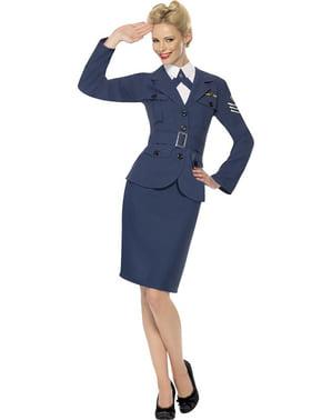 Disfraz de capitana de las fuerzas aéreas