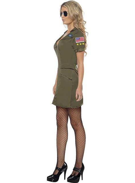Sexy Kostüm Top Gun für Damen