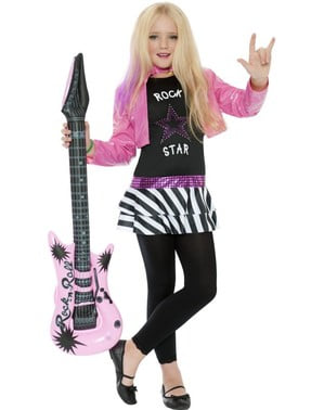 Dívčí kostým rocková hvězda