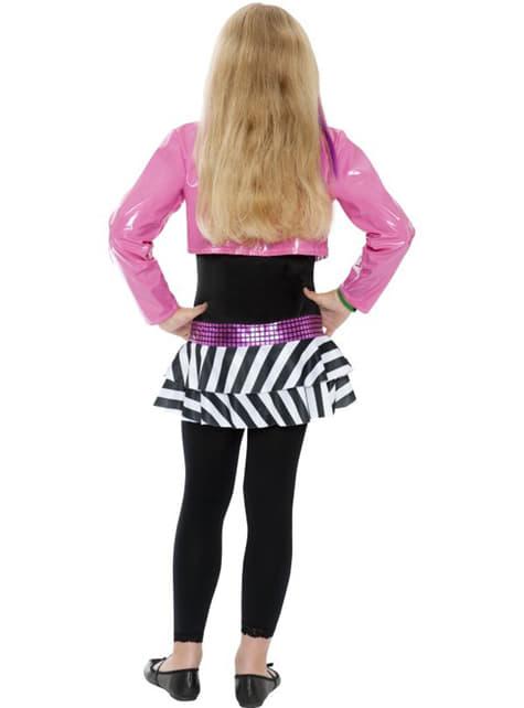 Детски костюм на блестяща рок звезда за момичета