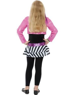 Costume da stella glamour del rock per bambina
