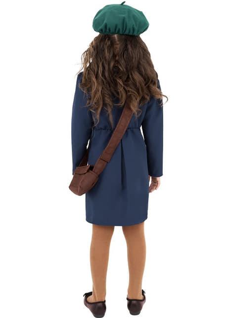 40代の女の子の青い衣装