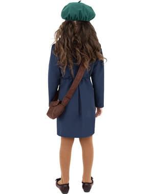 Fato de menina dos anos 40 azul