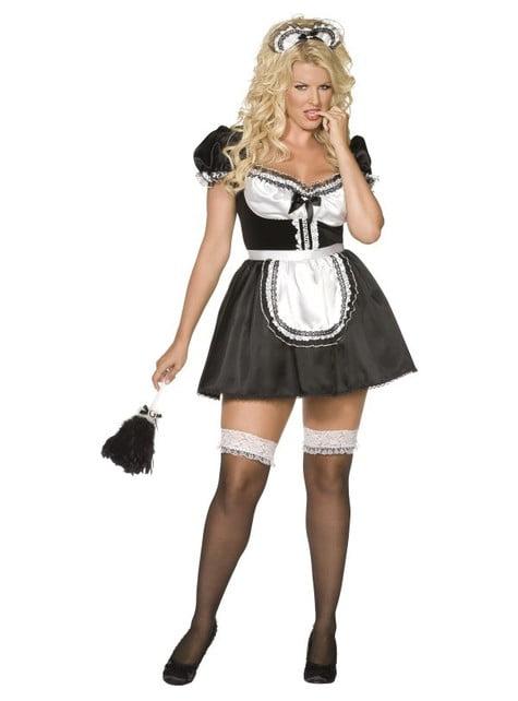 Fransk stuepike plus size kostyme Str. L