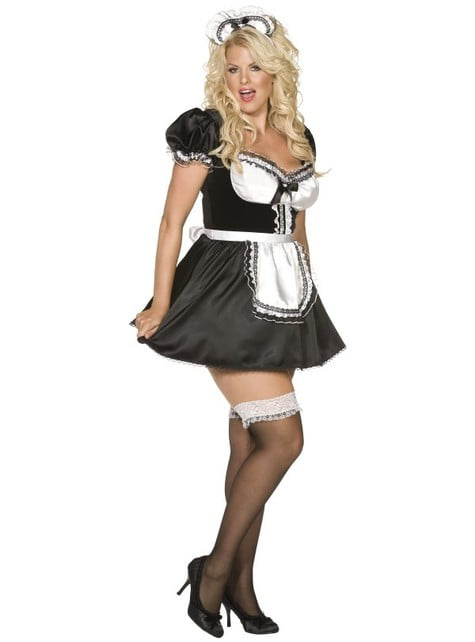 Disfraz de criada francesa talla grande Envy