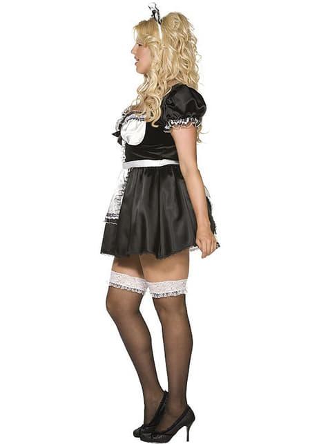 羨望の大きいサイズのフランスのメイド衣装