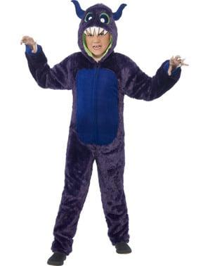 Costume da mostro peloso viola per bambino