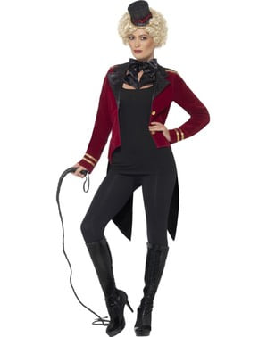 Red circus tamer costume for women