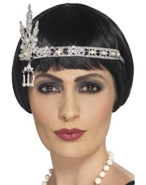 Silver 20's hair ribbon for women