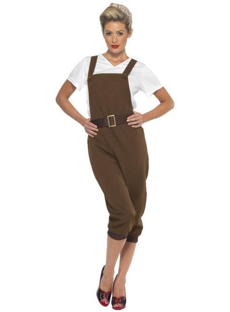 Costum din al doilea război mondial maro pentru femeie
