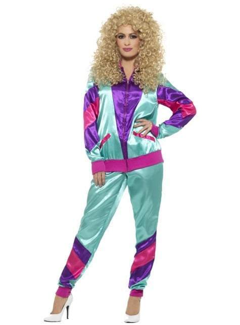 Costum anii 80 sportiv pentru femeie